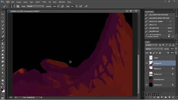Painting the foreground: Part 1: Drawing and Painting in Photoshop - The Great Training