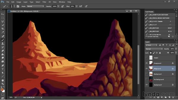 Painting the midground: Drawing and Painting in Photoshop - The Great Training