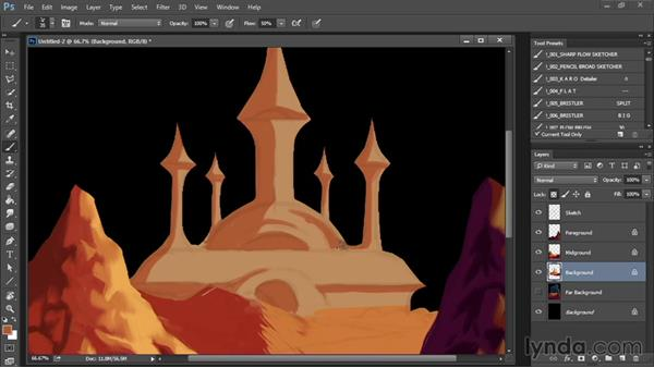 Painting the palace: Drawing and Painting in Photoshop - The Great Training