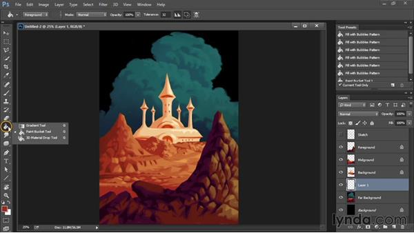 Contrast tweaks and gradient layers: Drawing and Painting in Photoshop - The Great Training