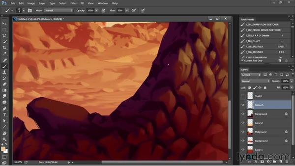 Finishing touches and glow effect: Drawing and Painting in Photoshop - The Great Training