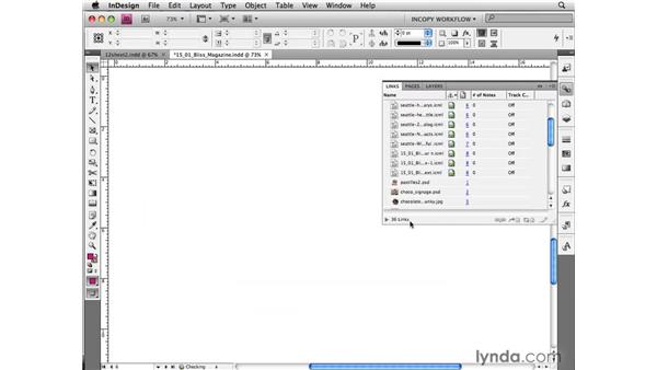Keeping packages up to date: InCopy CS4 and InDesign CS4 Workflow Essential Training