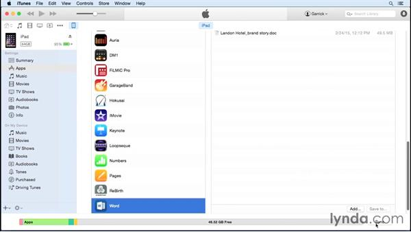 Saving files to and from apps via iTunes: iPad Tips and Tricks