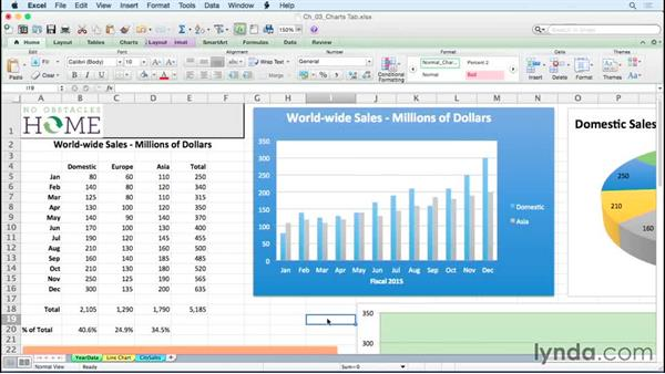 Changing the location of a chart's source data: Excel for Mac 2011: Charts in Depth