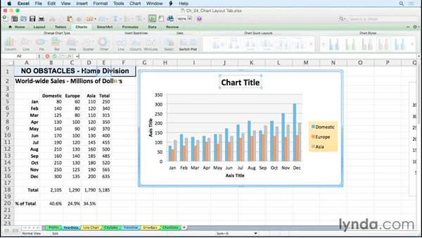Linking titles to content: Excel for Mac 2011: Charts in Depth