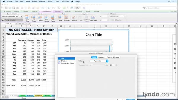 Working with gridlines: Excel for Mac 2011: Charts in Depth