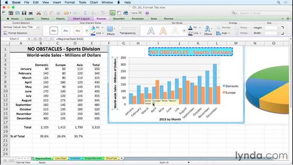 Exploring color and line effects for chart elements: Excel for Mac 2011: Charts in Depth