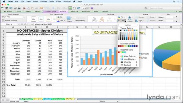 Altering chart text styles with fill and line effects: Excel for Mac 2011: Charts in Depth