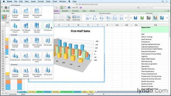 Customizing column and bar charts: Excel for Mac 2011: Charts in Depth