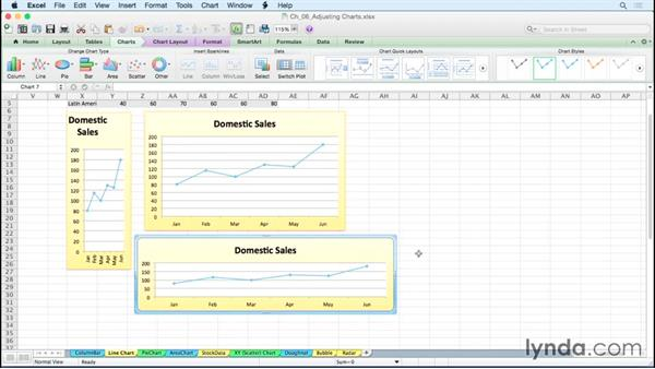 Customizing line charts: Excel for Mac 2011: Charts in Depth