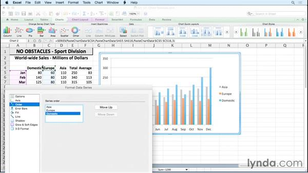 Adding and deleting chart data series: Excel for Mac 2011: Charts in Depth
