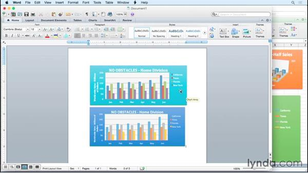 Copying and linking charts with Word and PowerPoint: Excel for Mac 2011: Charts in Depth