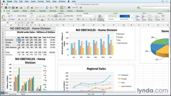 Converting a chart to a graphic: Excel for Mac 2011: Charts in Depth