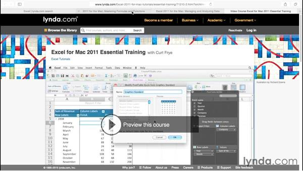 Next steps: Excel for Mac 2011: Charts in Depth