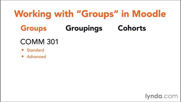 Understanding user groups: Moodle Administration Essential Training