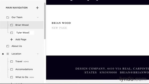 Adding pages: Squarespace 7 Essential Training