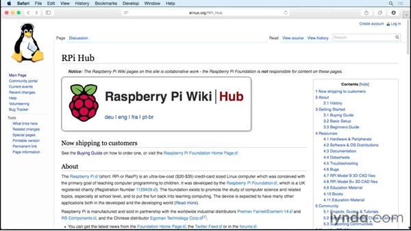 Useful websites: Up and Running with Raspberry Pi