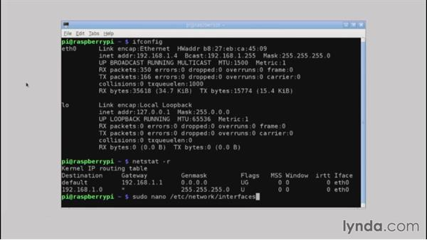 Setting up a static IP address: Up and Running with Raspberry Pi