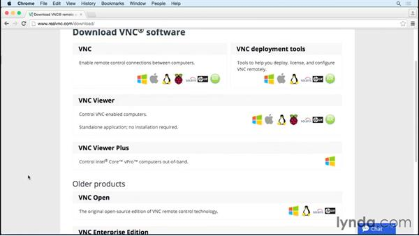 Using a VNC client to connect: Up and Running with Raspberry Pi