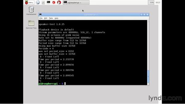 Testing the speaker: Up and Running with Raspberry Pi