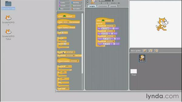 Using Scratch to control GPIO: Up and Running with Raspberry Pi