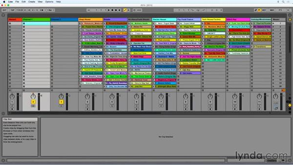 Organization and color coding: DJing with Ableton Live