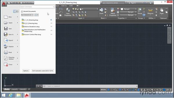Opening up an AutoCAD drawing DWG file: Up and Running with AutoCAD LT