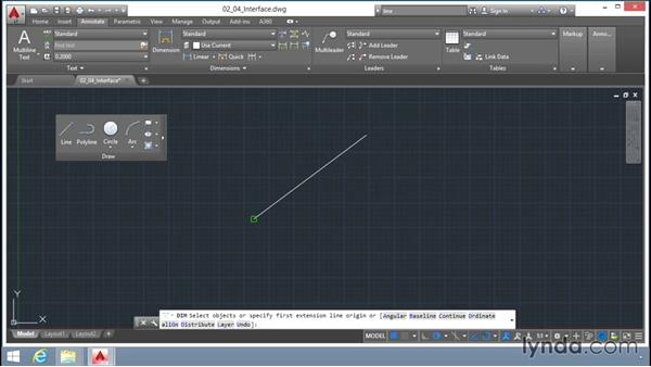 Introducing the AutoCAD interface: Up and Running with AutoCAD LT