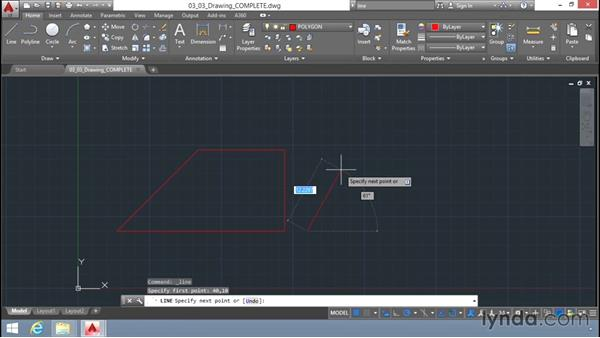 Line command options: Up and Running with AutoCAD LT