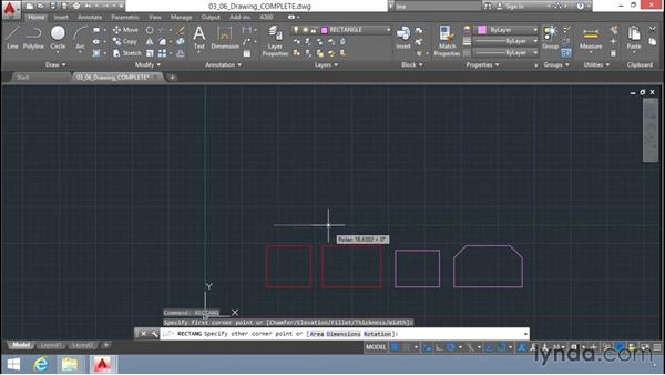 Drawing rectangles: Up and Running with AutoCAD LT