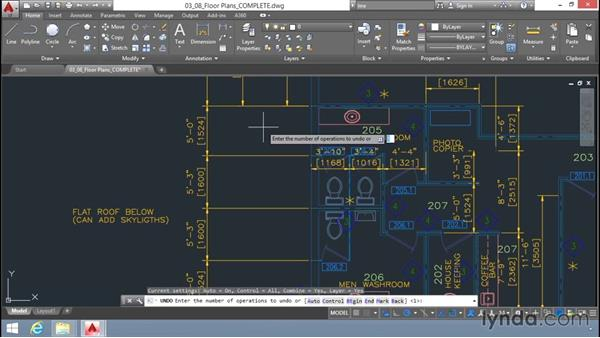 Undoing and redoing actions: Up and Running with AutoCAD LT