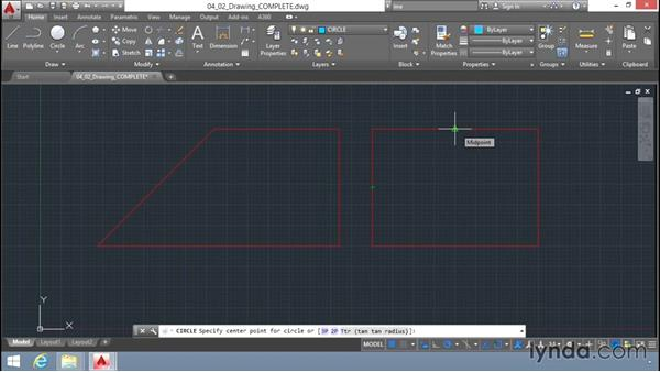 Object-snap tracking: Up and Running with AutoCAD LT