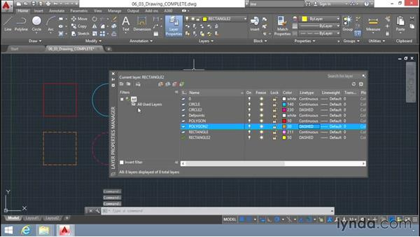 Working with different types of layers: Up and Running with AutoCAD LT