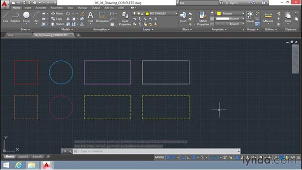 Setting the current layer: Up and Running with AutoCAD LT