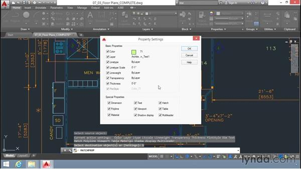 Matching properties: Up and Running with AutoCAD LT