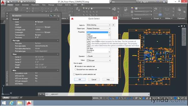 Quick Select: Up and Running with AutoCAD LT
