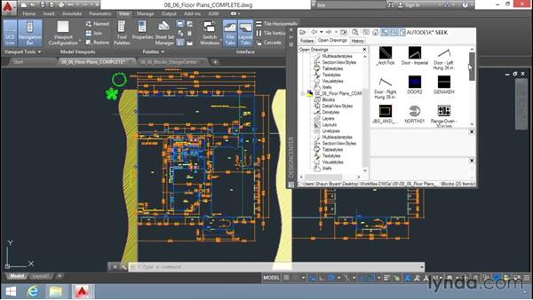 Inserting blocks using the DesignCenter: Up and Running with AutoCAD LT