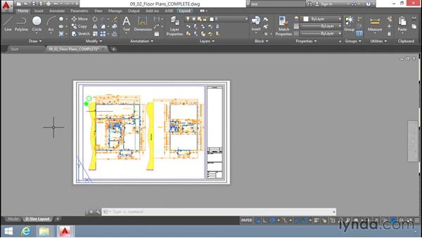 Printing from Model and Layout tabs: Up and Running with AutoCAD LT