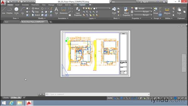 Creating layouts: Up and Running with AutoCAD LT