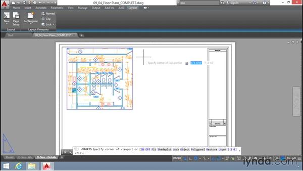 Creating layout viewports: Up and Running with AutoCAD LT