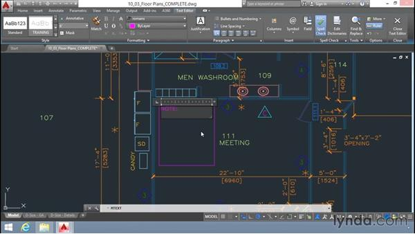 Multiline text: Up and Running with AutoCAD LT