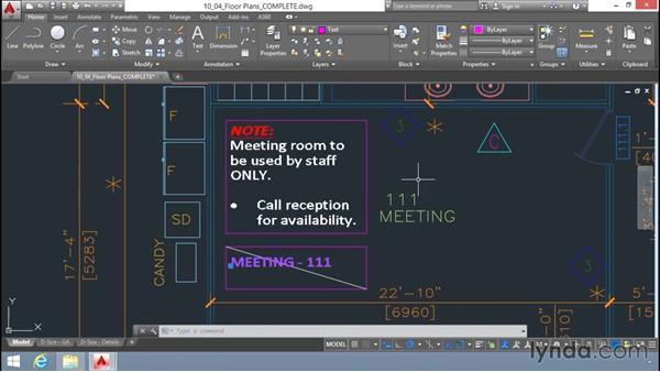 Changing text properties: Up and Running with AutoCAD LT