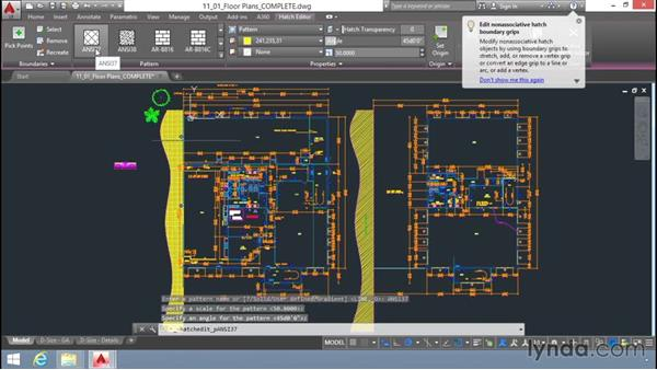 Hatch pattern and properties: Up and Running with AutoCAD LT