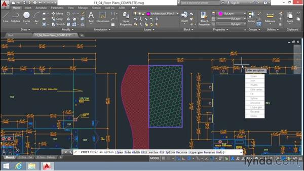 Grip editing hatch boundaries: Up and Running with AutoCAD LT