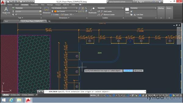 Adding dimensions: Up and Running with AutoCAD LT