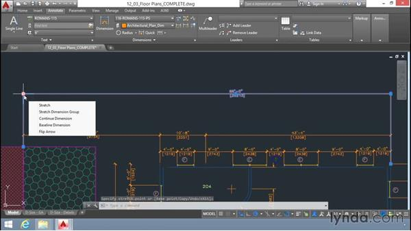 Editing dimensions with grips: Up and Running with AutoCAD LT