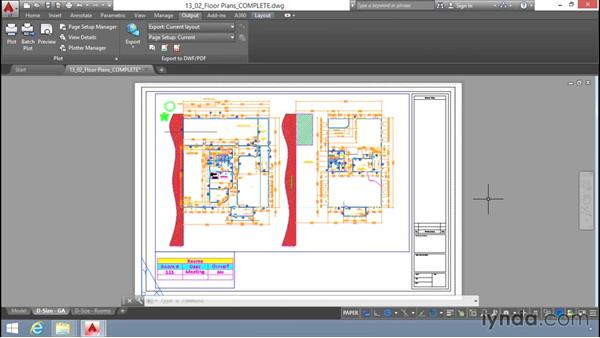 Previewing the plot: Up and Running with AutoCAD LT