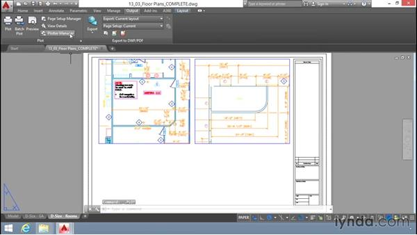 Print and plot settings: Up and Running with AutoCAD LT
