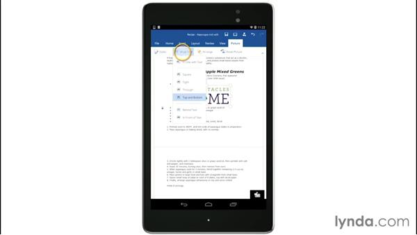 Working with Word: Up and Running with Office for Android Devices