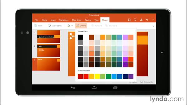 Working with PowerPoint: Up and Running with Office for Android Devices